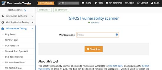 WordPress Vulnerability Scanner
