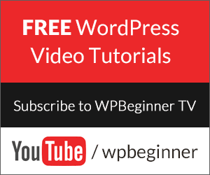Free WordPress Video Tutorials on YouTube by WPBeginner