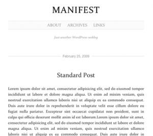 Manifest Theme