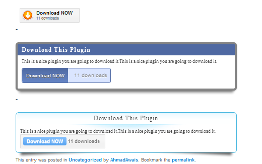 Demo screenshot of WordPress Download Manager