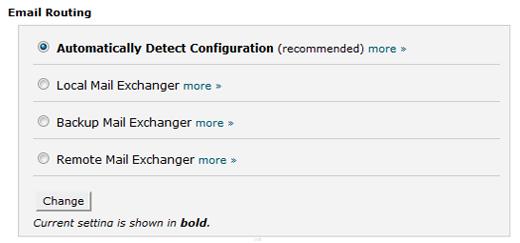Domain name configuration