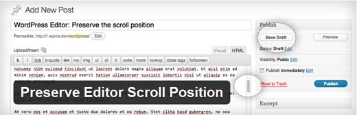 Preserve Editor Scroll Position