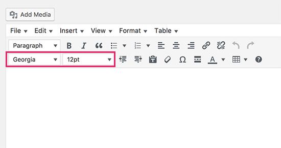 TinyMCE font size