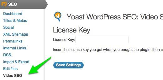 Yoast Video SEO plugin License Key