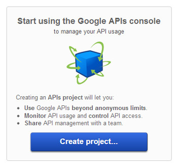 Creating a Google API account