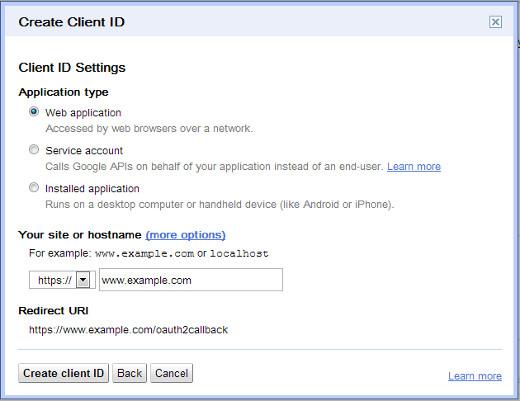 Google API Information