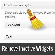 How to Remove the Inactive Widgets in WordPress
