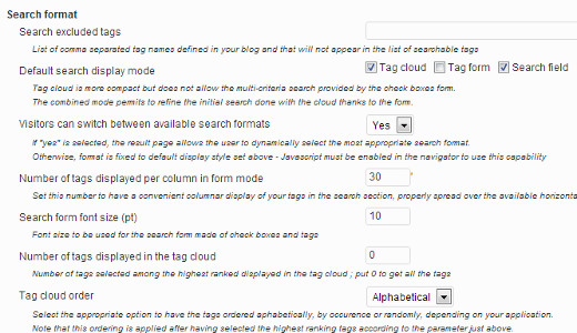 Configuring WP Media Tagger Search Formats