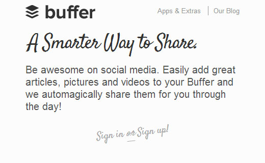 Buffer one web application to cross post across your network