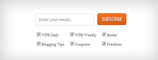 WPBeginner Subscription Checkboxes
