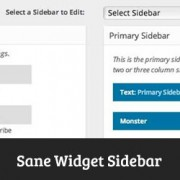 How to Improve WordPress Widget Management with Sane Widget Sidebars