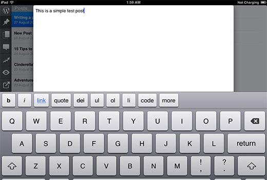 Een bericht schrijven in de WordPress-app voor iPhone of iPad