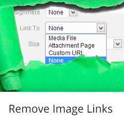 How to Automatically Remove Default Image Links in WordPress