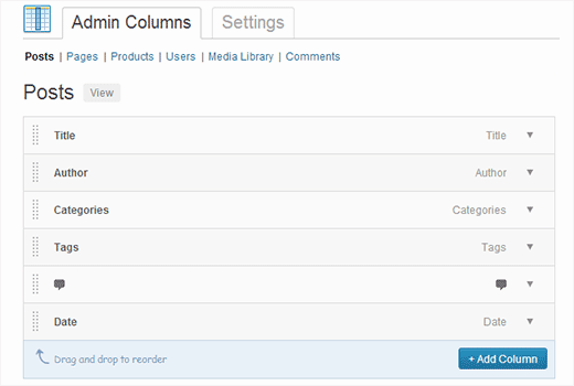 Add or customize WordPress admin columns