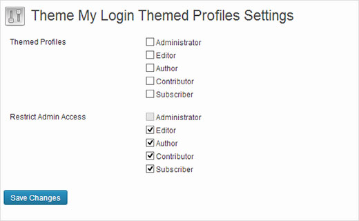Enabling Themed Profiles