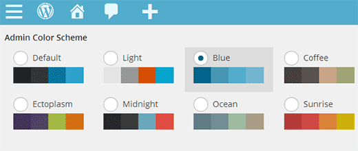 Setting a default color scheme for new users in WordPress