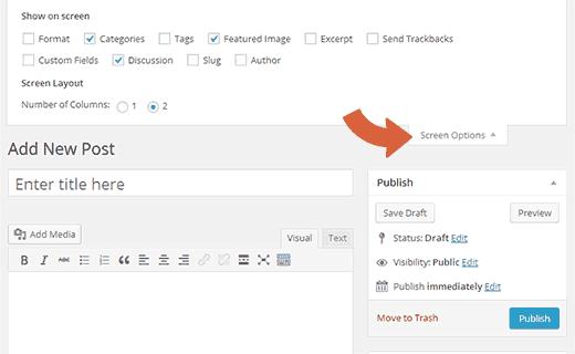 Ẩn hộp meta khỏi màn hình chỉnh sửa bài đăng từ tùy chọn màn hình