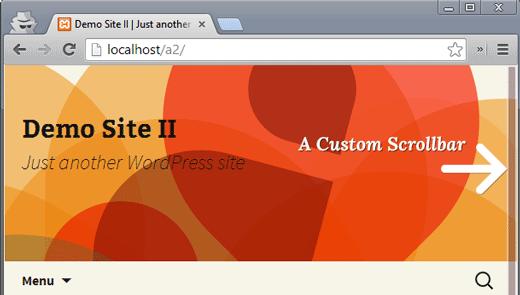 A custom scrollbar in action