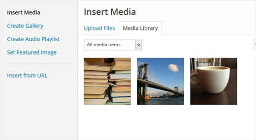 Users will only see their own files when adding new media
