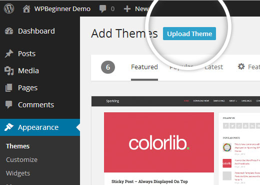 WordPress Theme Install Upload Theme