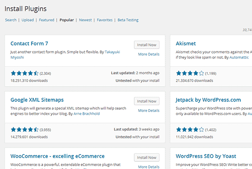 Plugin install experience in WordPress 4.0