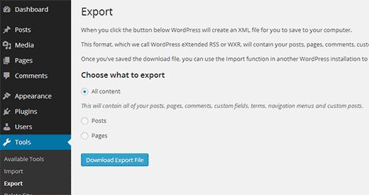 Een enkele site exporteren uit een WordPress multisite-netwerk