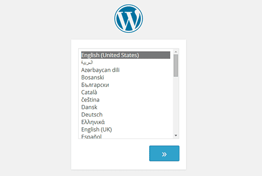 Language selection during the install process in WordPress 4.0
