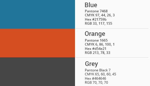 Officieel WordPress kleurenpalet