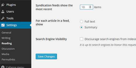 Changing number of posts displayed in WordPress RSS feed