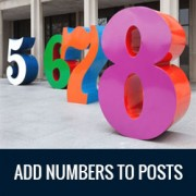 How to Automatically Add Numbers to Your WordPress Posts