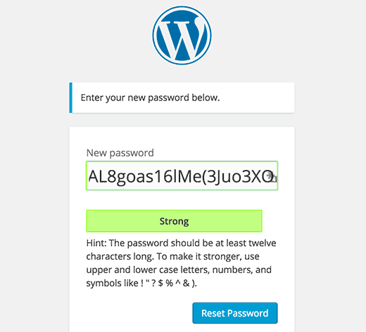 New user interface favors stronger passwords in WordPress