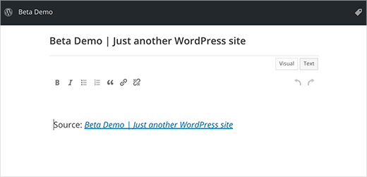 Press This in WordPress 4.3 will have full featured post editors