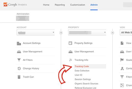 Найти свой ID-номер для отслеживания Гугл аналитикс