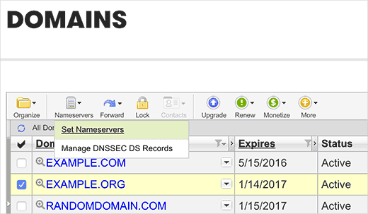 Editing a domain name in GoDaddy