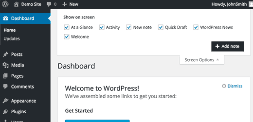 Adding a new note to store your post ideas in WordPress
