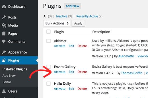 wordpress one click install plugin