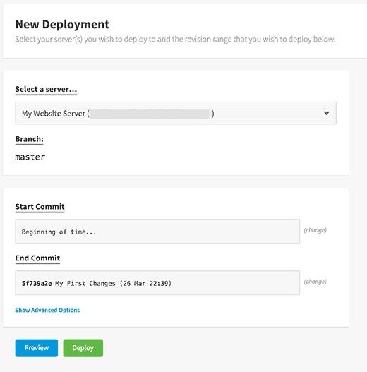 New deployment