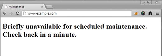 WordPress bakım hatası nedeniyle kullanılamıyor