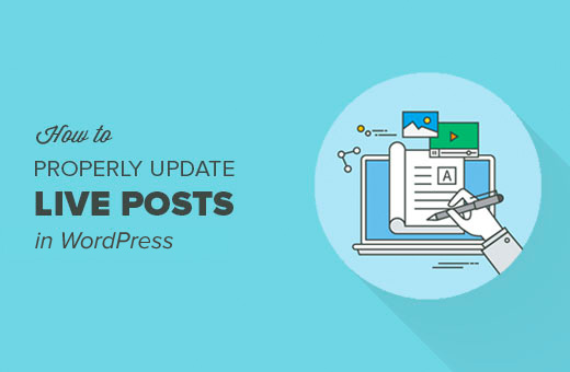 How to update live posts in WordPress