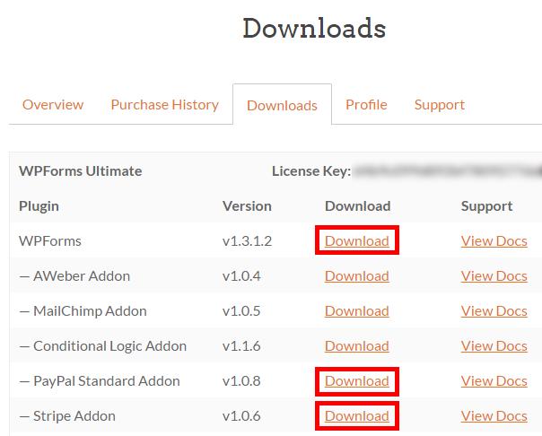 download WPForms als een donatie-plugin voor WordPress