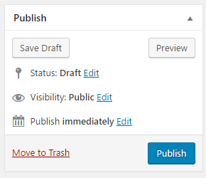 Publish your new WordPress page