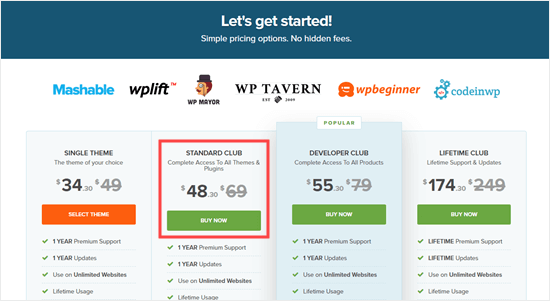 The CSS Igniter pricing plans