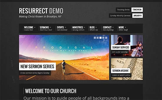 Wordpress website templates for churches 25 inspiring church.