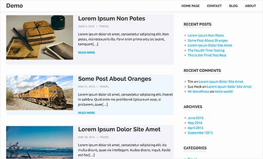 Alternate colors used for WordPress posts using odd and even CSS classes