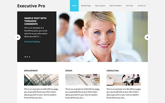 29 best corporate wordpress themes for your business 2017 executive pro is a premium corporate wordpress theme built on top of genesis framework it comes with an easy to use theme options panel which allows you to friedricerecipe Image collections