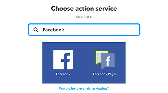 Facebook on IFTTT