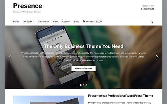 29 best corporate wordpress themes for your business 2017 presenceg cheaphphosting Images