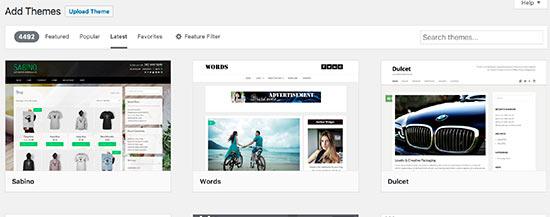 Tìm kiếm các chủ đề WordPress miễn phí