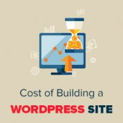 how much does it cost to build a wordpress website 2018