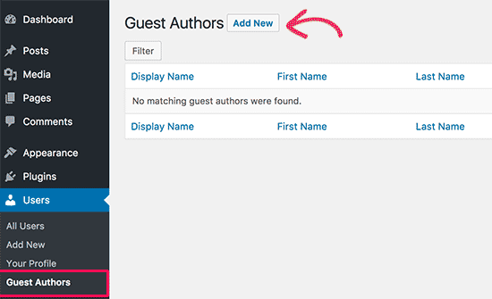 Adding a new guest author in WordPress